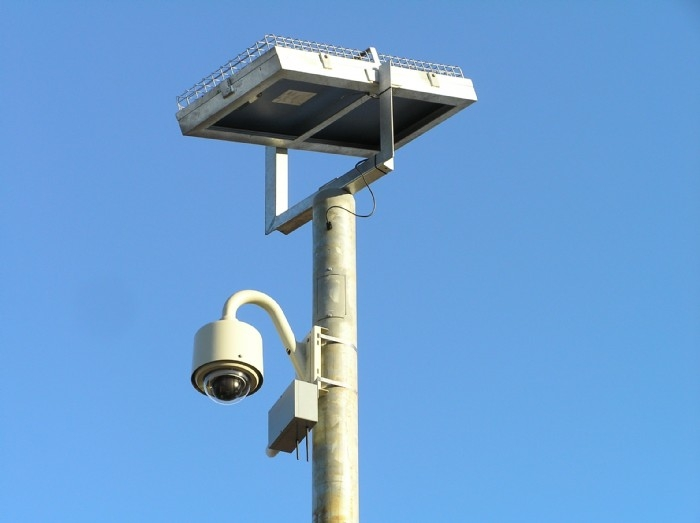 Remote Solar Powered Camera Pole